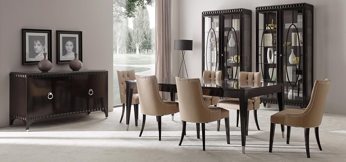 Italian dining room set - Ellipse collection by Sevensedie